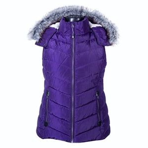 Purple Puffy Vest